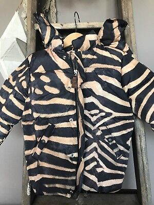POPUPSHOP Kids Bubble Animal Print Puffa Jacket - BNWT - Size 1-2