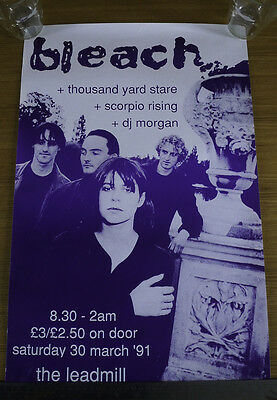 Original vintage Bleach concert poster from 1991 at Sheffield Leadmill