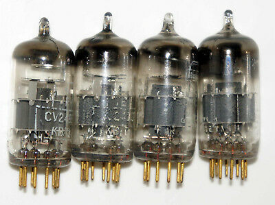 4 Mullard E88CC-01 Cv2493 valves/tubes Used tested With white boxes