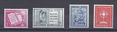 Norfolk Island Christmas issues, 1960-1963. SC 43-45,65 MNH
