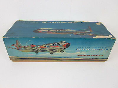 vt LineMar Marx Battery Op American Airlines Lockheed Prop-Jet Toy- EMPTY BOX