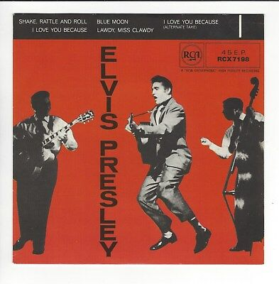 Elvis Presley Reissued   Uk  7'' Ep   In  N/ex / N/ex  Con