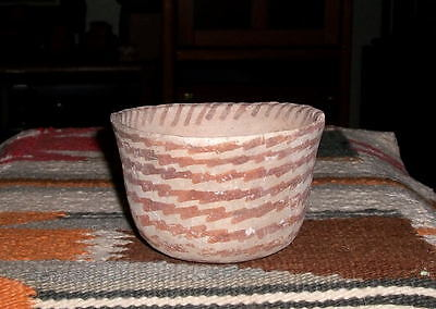 """Hohokam red on buff bowl ca 1250 ad., """"MINT"""" as is."""