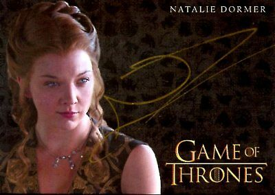 Game Of Thrones Valyrian Steel GOLD AUTOGRAPH card NATALIE DORMER