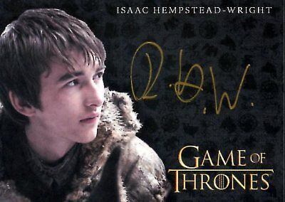 Game Of Thrones Valyrian Steel GOLD AUTOGRAPH card ISAAC HEMPSTEAD-WRIGHT