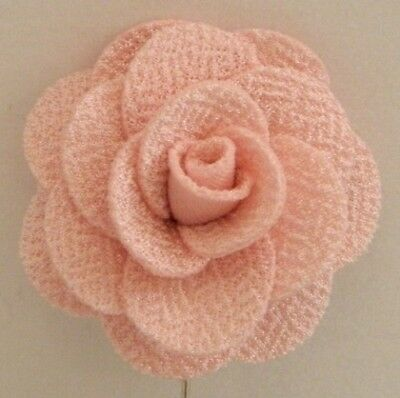 Silver Stemmed Lapel Pin - Pink