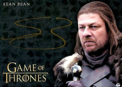 Game Of Thrones Valyrian Steel GOLD AUTOGRAPH card SEAN BEAN
