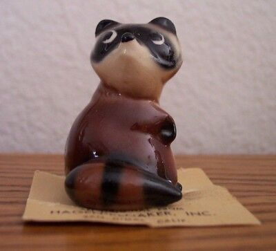 Vintage Hagen Renaker Raccoon On Card