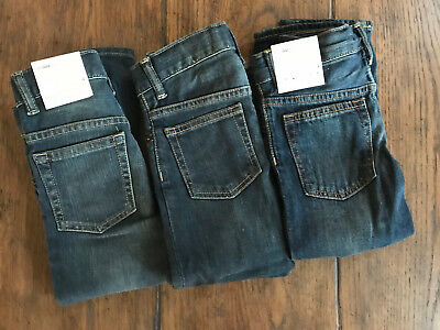 Baby Gap boys lot of 3 pairs of jeans 4 years NWT