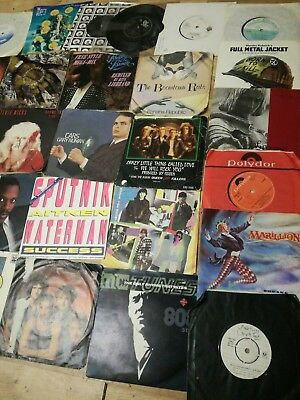 """job lot of 100+ 7"""" vinyl  all genres 1970-1997 all tested and working"""