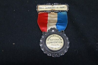 1900 Republican National Convention Asst Sergeant at Arms Medal