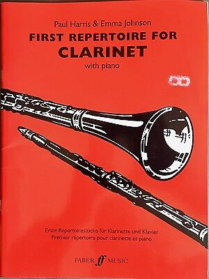 First Repertoire for Clarinet (with Piano) by Paul Harris & Emma Johnson.
