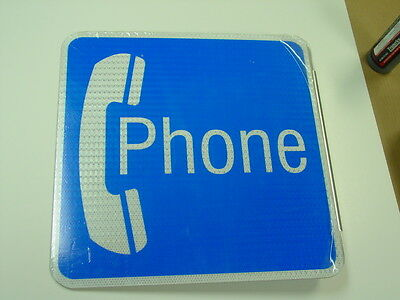 """New large metal payphone sign two sided, measures 18"""" x 18"""" X 2"""" flange at&t"""