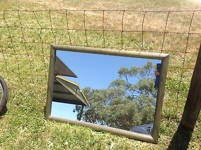 Wall Mirror - Aged Brass Look On Frame
