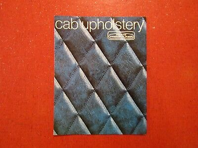 Vintage White Freightliner Truck Cab Upholstery Brochure dated 1974