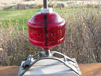 Stunning Red Glass SHINN/NATIONAL Lightning Rod Ball
