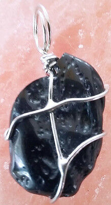 Rare 50 Carat Extraterrestrial Meteorite Tektite Pendant, With Chain,  A5