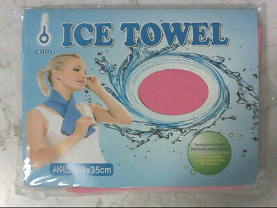 NEW Ice Towel with Cool Sense Sweat Absorption Dry Quickly Pink