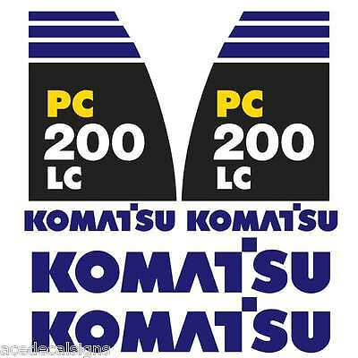 Komatsu PC200-8LC Decals Stickers New Repro Decal Kit