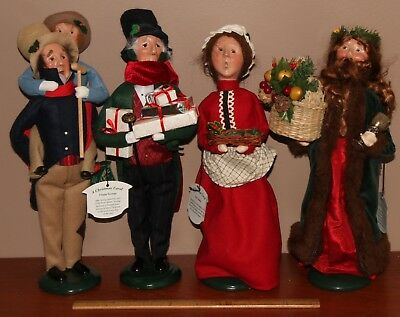 Byers Choice 4 Charles Dicken's A Christmas Carol Figurines With Original Tags