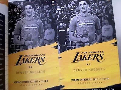 2 LA LAKERS vs New Orleans Pelicans Tickets  10/22 SECTION 216, ROW 7 Staples