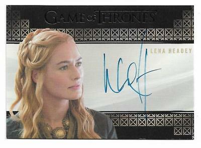 2017 Game of Thrones Valyrian Steel Autograph Lena Headey as Cersei Lannister VL