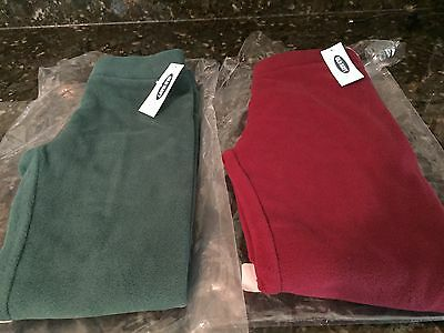 Lot Of 2 OLD NAVY Toddler Girl Fleece Pants Size 3T NWT New In Package!