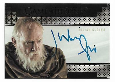 2017 Game of Thrones Valyrian Steel Autograph Julian Glover as Grand Maester