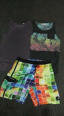 Mens billabong shorts size 30 and Rusty Singlet Top - Size M