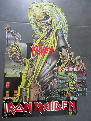 Original 1981 Iron Maiden Store Display Autographed Signed By All 5 Clive Burr