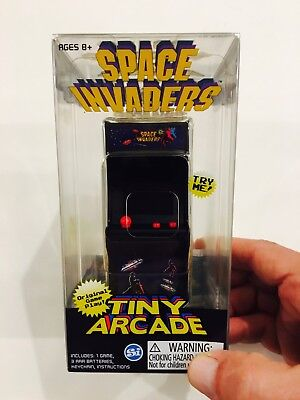 Tiny Arcade Space Invaders Mini Table Top Game Fully Playable NIB