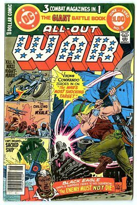 All-Out War #5 VF 8.0 white pages  Viking Commando  DC  Giant  1980  No Reserve