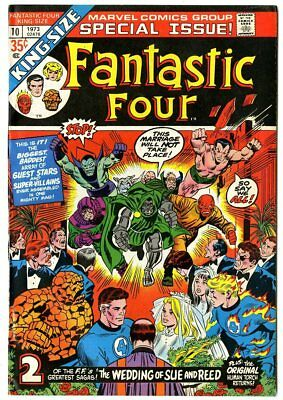 Fantastic Four Annual #10 VF/NM 9.0  Wedding issue  Marvel  1973  No Reserve