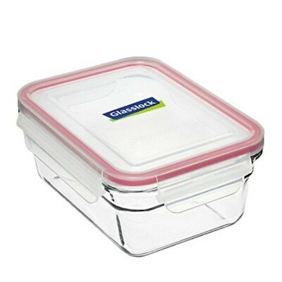 Glasslock Rectangular Tempered Glass Oven Safe Container 485ml