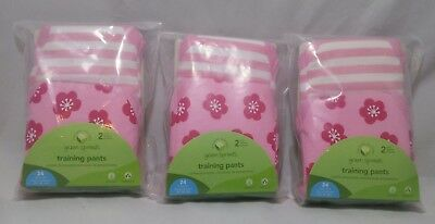 Green Sprouts baby Infant Training Pants lot of 3 2 Pack 24 months 25-30lbs