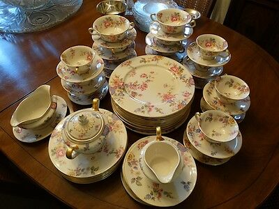 CASTLETON china SUNNYBROOKE pattern 66-piece SET
