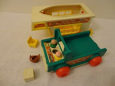 Vintage Fisher-Price Play Family Camper Set #994