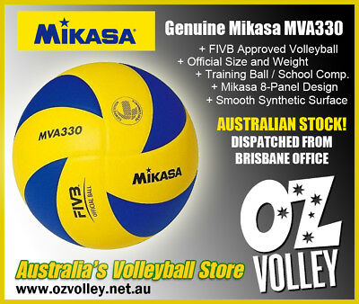 Genuine Mikasa MVA330 Indoor Training Volleyball - FIVB Approved - OzVolley