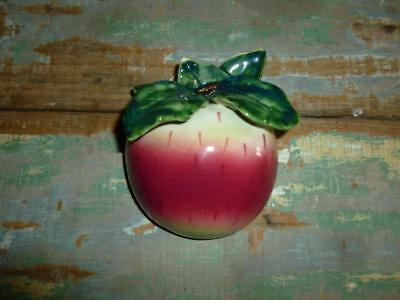 Vintage Red Apple WALL POCKET VASE