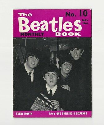 The BEATLES BOOK MONTHLY #10 - VERY SCARCE May 1964 - COMPLETE 1st PRINT - NICE