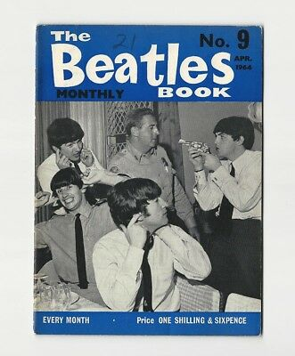 The BEATLES BOOK MONTHLY #9 - VERY SCARCE April 1964 - COMPLETE 1st PRINT - NICE