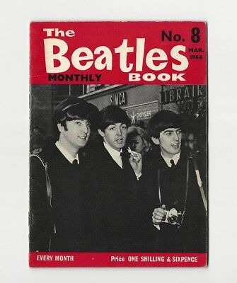 The BEATLES BOOK MONTHLY #8 - VERY SCARCE March 1964 - COMPLETE 1st PRINT - NICE