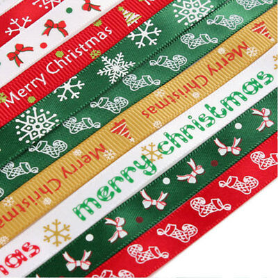 Christmas Ribbon 9mmx 5m Gift Wrapping, Wreaths, Decorations, Crafts