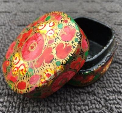 """BLOOMING FLOWERS """"Red & Gold"""" Small Decorative Gift Jewellery Trinket Box"""