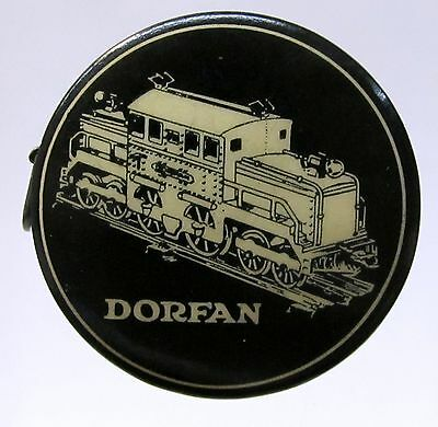 rare 1920's DORFAN ELECTRIC TRAINS Newark celluloid advertising tape measure *