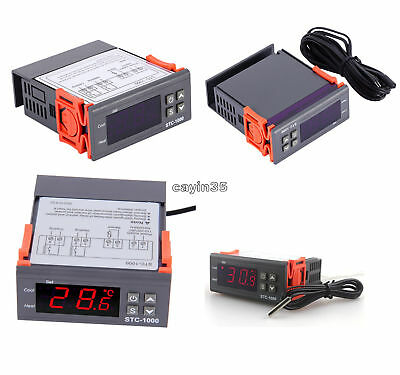 12V/24V/110V/220V STC-1000 Digital Temperature Controller Thermostat w/NTC UK
