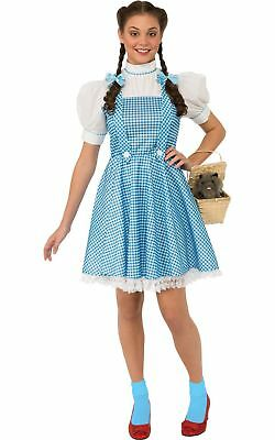 Rubies Costume Wizard of Oz Adult Dorothy Dress and Hair Bows, Blue/White, St...