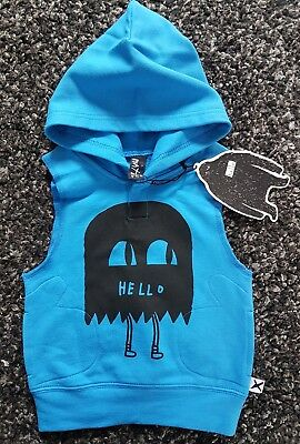 MINTI bright blue hooded vest. Bnwt