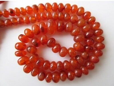 Carnelian Smooth Rondelle Beads 6.5mm-10mm Carnelian Beads 18 Inch Strand GDS660