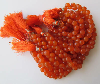 Natural Carnelian Faceted Onion Briolette Beads 8mm Each 8 Inch Strand GDS621